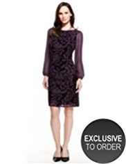 M&S Collection Slash Neck Devoré Tunic Dress