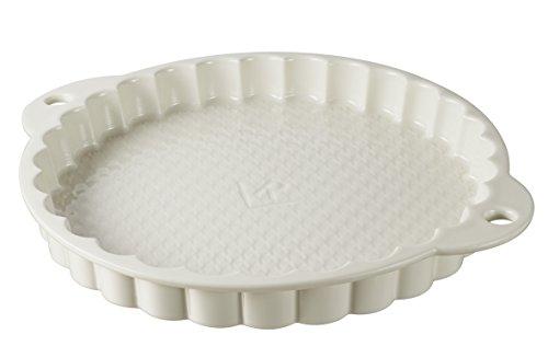 Revol USA 647706 Les Naturals Tart Dish, Cream