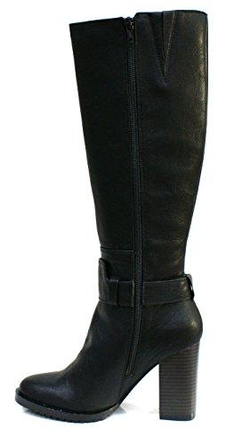 Gaudi Stivale Donna Verity Tacco Cm 9 Leather Black_37