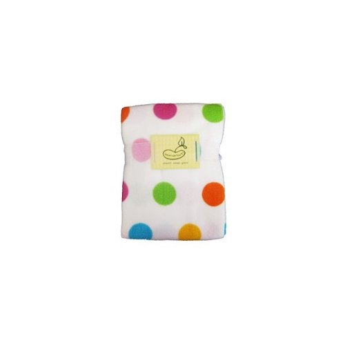 Beansprout Printed Dot Crib Blanket Pink back-927274
