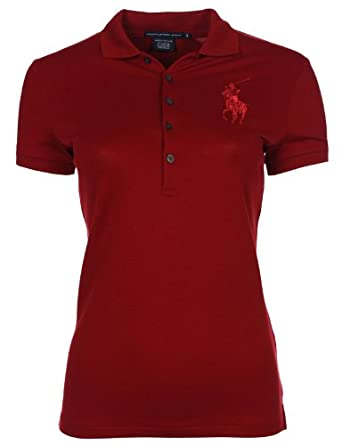 new product d0ddf fa93a Ralph Lauren Womens Polo Shirt Big Pony Red - Polo Ralph ...