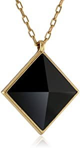 Lucky Brand Pyramid Pendant Necklace, 19""