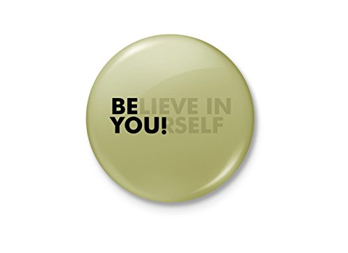 Alter Ego Believe in YOUrself Motivational Minimalist Badge