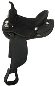 King Series Synthetic Trail Saddle Black/Black 11