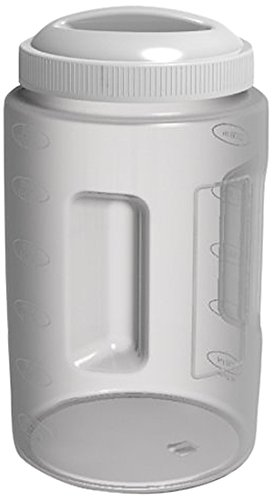 United Solutions Plastic Food Canister With White Lid, 3-Quart, 6-Pack