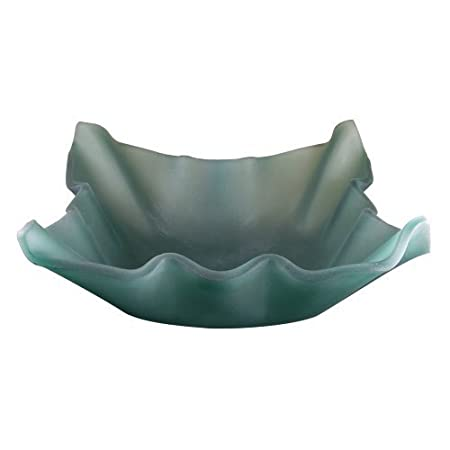 Yosemite Home Decor JULIA Fused Topmount Shell Glass Basin, Jade by Yosemite Home Decor