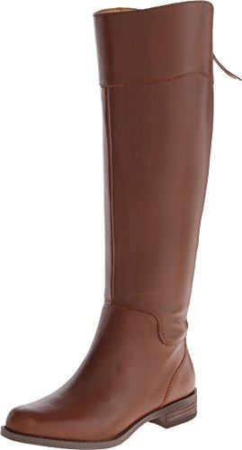 Nine West Women'S Counter Wide Calf Cognac Leather Boot 7.5 M