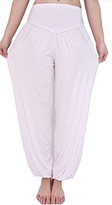 Mooncolour Women's Soft Elastic Waistband Fitness Yoga Harem Pants Dance Pants