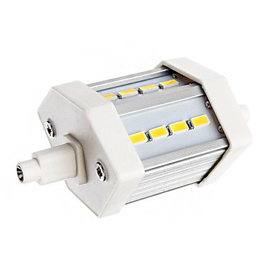 Rayshop - Dimmable R7S 5W 12Xsmd 5630 600Lm 6000-6500K Cool White Light Led Corn Bulb(Ac 85-265V)