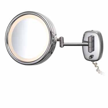 Kimball & Young 903Ac Single-Sided Wall Plug-In Mirror With Chrome Frame, 7.75-Inch