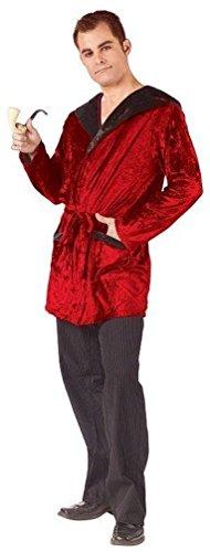 [Popcandy Casanova Hef Velvet Smoking Robe and Pipe Adult Costume] (Hef Robe Costume)