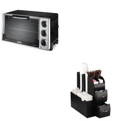 Kitdloro2058Emscad01Blk - Value Kit - Delonghi Convection Oven W/Rotisserie (Dloro2058) And Ems Mind Reader Llc Coffee Organizer (Emscad01Blk)