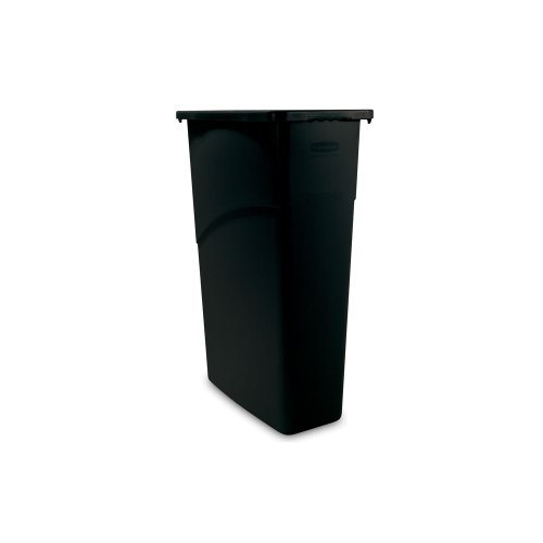 Rubbermaid Commercial FG354000BLA LLDPE Slim Jim 23-Gallon Trash Can, Black