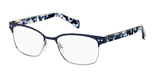 tommy-hilfiger-gafas-unisex-1306-vjd-blue-rutenio-blue-carey-estructura-de-plastico-y-metal