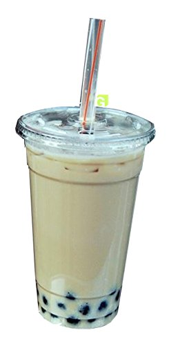 Green Direct Plastic Ultra Clear Cups With Flat Lids for Iced Coffee Bubble Boba Tea Smoothie (100, 24 Ounce) (24 Oz Plastic Cups With Lids compare prices)