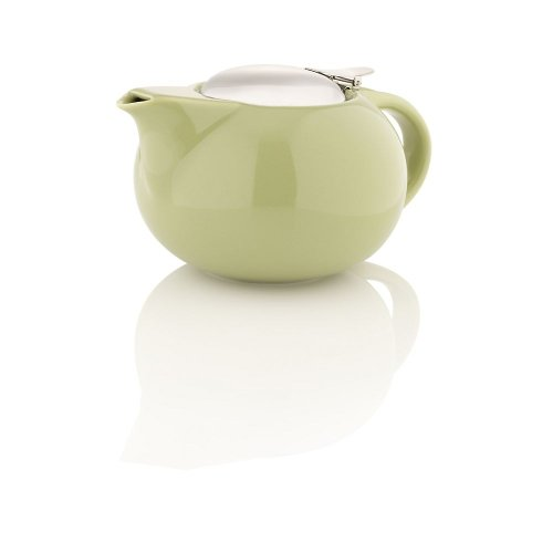Teavana Porcelain Teapot With Stainless Steel Lid, Green