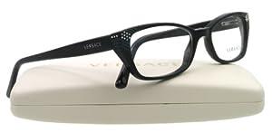 Versace Eyeglasses Gb1 Shiny Black Demo Lens 53 16 135