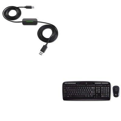 Kitblkf4U060Log920002836 - Value Kit - Belkin Easy Transfer Cable For Windows 8 (Blkf4U060) And Logitech, Inc. Mk320 Wireless Desktop Set (Log920002836)