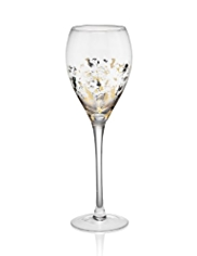 Golden Leaf Wine Glass