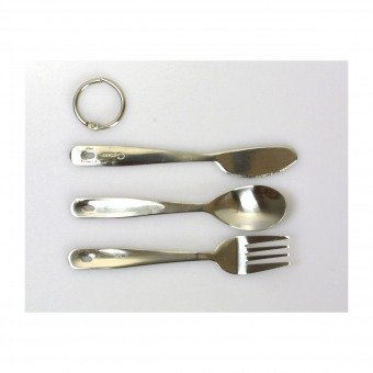Coghlans Cutlery Set, 3-Piece Stainless Steel