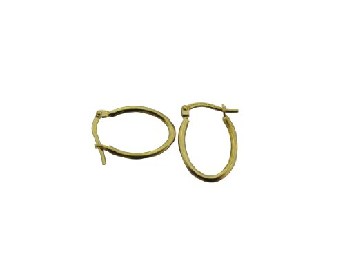 10KT Yellow Gold Bonded 0.925 Sterling Silver Polished Clicktop Hoop Earrings.