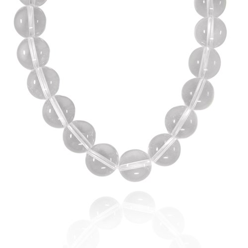 12mm Round Crystal Bead Necklace, 50