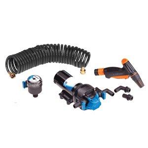 Jabsco HotShot Series Automatic Washdown Pump w/25' HoseCoil - 6.0GPM - 70psi - 12VDC