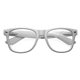 Amazon.com: Nerd Glasses Clear Lenses Buddy Holly Wayfarer ...
