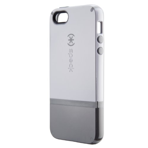 Special Sale Speck Products CandyShell Flip Dockable Case for iPhone 5 & 5S - Retail Packaging - White/Graphite Grey/Pebble Grey