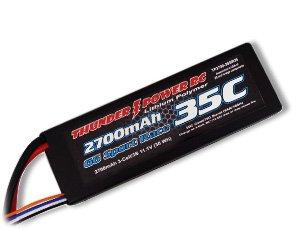 2700mAh 2S 7.4V G6 Sport Race 35C LiPo, Deans