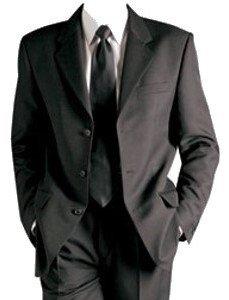 MUGA mens Suit + Waistcoat, Anthracite, size 54L (EU 122)
