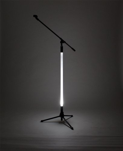 Hottie - Led Lighted Microphone Stand With Tripod Base And Boom Arm White Led