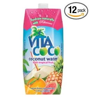Vita Coco Coconut Water with Tropical Fruit, 17-Ounce (Pack of 12)