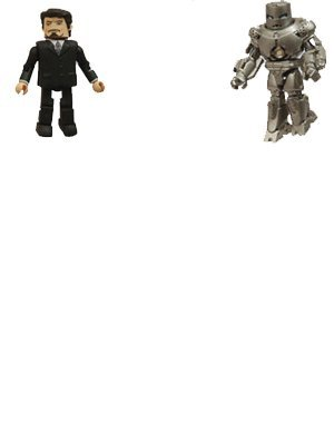 Picture of Art Asylum Marvel Comics Figures MiniMates Iron Monger And Tony Stark Action Figure 2-Pack (B001IPEI1I) (Marvel Action Figures)