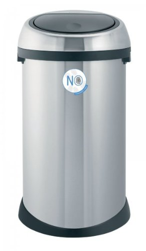 Brabantia 378706 Touch Bin 50-Liter Fingerprint-Proof Waste Bin, Brushed Stainless Steel