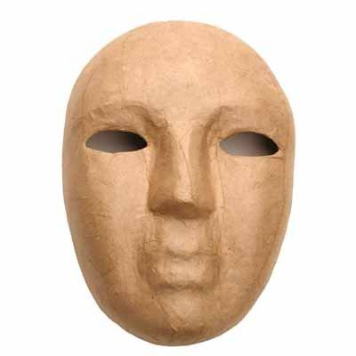 "Paper Mache Mask 8.5 X 6"" (48 Each)"