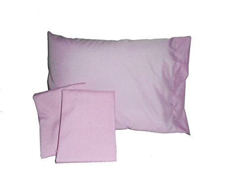 Baby Doll Solid Crib/ Toddler Bed Sheet Set, Pink