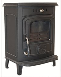 Warrior Stoves WSDGABBB Gabriel Woodburning Multi-Fuel Stove With Boiler