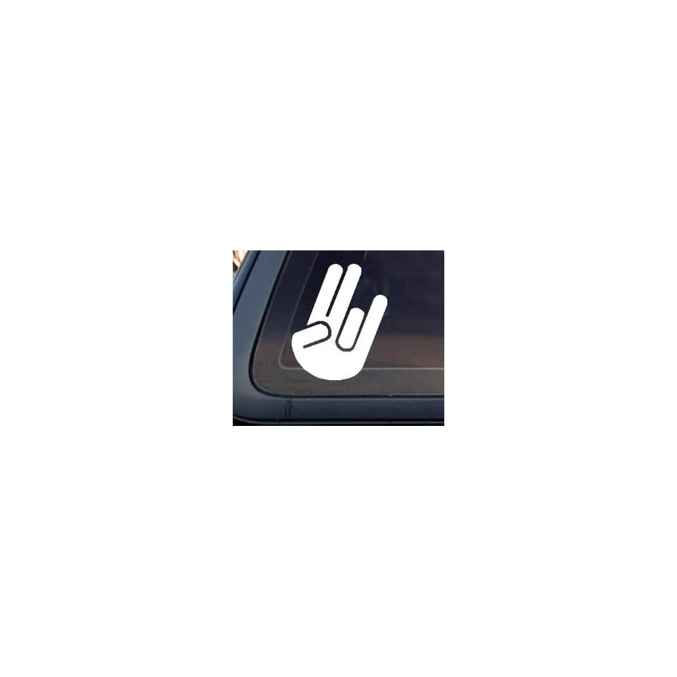 SHOCKER HAND SOLID   6 WHITE   Vinyl Decal Sticker   NOTEBOOK, LAPTOP, WALL, WINDOW, CAR, TRUCK, MOTORCYCLE