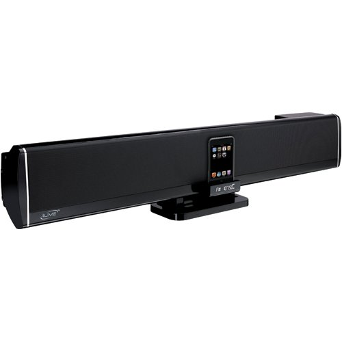 Ilive 5.1-Channel Home Theater Speaker Bar With Ipod Dock (Black)