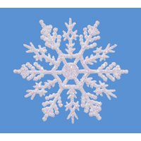 144 - 4&quot; White Glitter Snowflakes Winter Wedding Favors or Ornaments