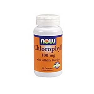 NOW Foods Chlorophyll, 90 Capsules / 100mg (Pack of 2)