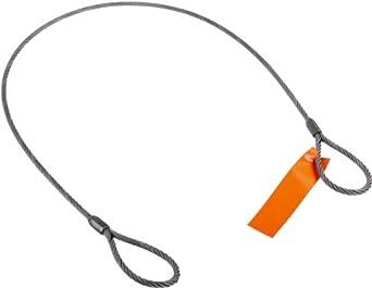 Mazzella Mechanical Splice Wire Rope Sling, Eye-and-Eye, 6 x 37 IWRC, Vertical Load Capacity