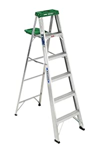 Werner 356 225-Pound Duty Rating Aluminum Stepladder, 6-Foot
