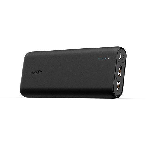 [La batteria da 20000mAh più compatta in circolazione] Anker PowerCore 20100 Caricabatterie Portatile - Ultra capacità di 20100mAh con uscita a 4.8A, Tecnologia PowerIQ per iPhone, iPad, Samsung Galaxy e Altri (Nero/Bianco)