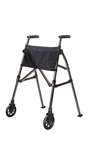 stander-ez-fold-n-go-height-adjustable-lightweight-travel-walker-locking-swivel-wheels-black-walnut-