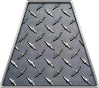 Fire Helmet Diamond Plate TETRAHEDRONS - Single REFLECTIVE Decal