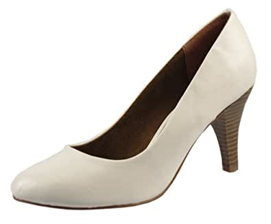 Tamaris 22414-28 femmes Escarpins synthétique cuir, blanc, Taille 42