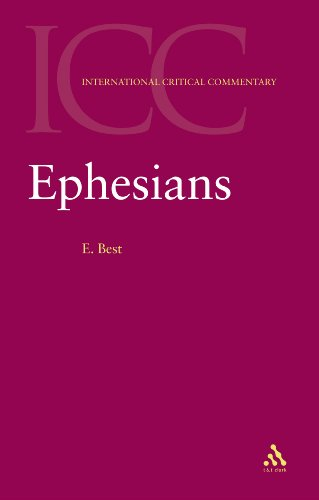 Ephesians (International Critical Commentary)