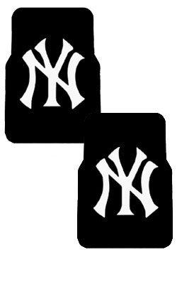 Front Car Truck SUV Rubber Floor Mats - MLB Baseball - New York Yankees